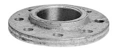 """5"""" Galvaniseret gevindflange P250GH  EN1092-1 PN10-40"""
