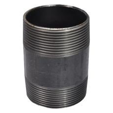 """1/8"""" x 100 mm Sort nippelrør"""