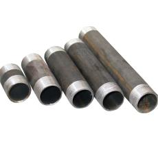 """2.1/2"""" x 100 mm Sort nippelrør"""