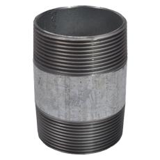 """1.1/2"""" x 130 mm Galvaniseret nippelrør"""