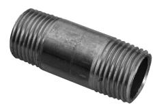 """1/2"""" x 135 mm Sort nippelrør"""