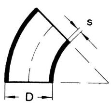 114,3 mm 45g. Svejsebøjning ST35.8
