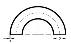 88,9 x 3,2 mm Svejsebøjning