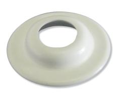 12 mm.. Plastbøsningskrave hvid