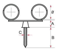 15 mm Inox dobbelt rørbærer
