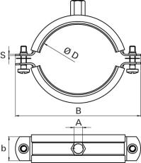 Samontec FRS 108-116 mm M8/M10 rørbøjle