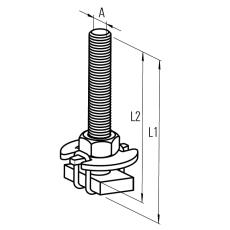 Samontec FHS clix M10 x 100 mm T-bolt