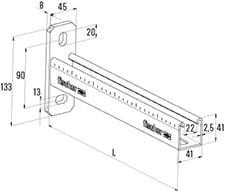 400 mm FCAM vægkonsol