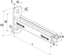 600 mm FCAM vægkonsol