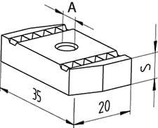 Samontec FCN clix M8 kvikmøtrik