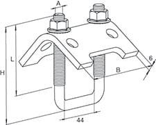 TKR 41 A4 bjælkebeslag
