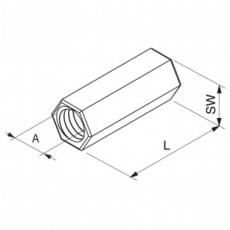 Samontec M10 galvaniseret koblingsstykke