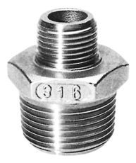 "1.1/4"" x 1/2"" Brystnippel AISI 316"