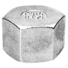"""1"""" Slutmuffe med sekskantet hoved AISI 316"""