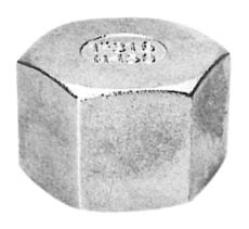 """3"""" Slutmuffe med sekskantet hoved AISI 316"""