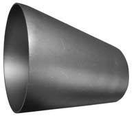 204,0 x 104,0 x 2,0 mm Excentrisk reduktion AISI 316