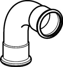 88 mm Bøjning FZ 90° muffe/muffe Mapress