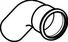 18 mm Bøjning FZ 45° muffe/nippel Mapress