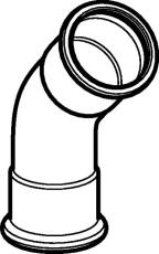 35 mm Bøjning FZ 45° muffe/muffe Mapress