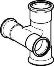 22 x 18 mm Tee-kryds FZ 90° Mapress
