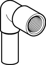 """15 mm x 1/2"""" Vinkel RF 90° nippel/muffe Mapress"""