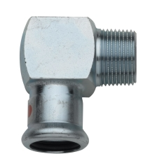 """18 mm x 1/2"""" TURBO Steel vinkel nippel"""