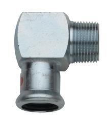 """18 mm x 3/4"""" TURBO Steel vinkel nippel"""