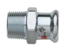 "15 mm x 3/8"" TURBO Steel overgangsnippel"