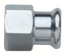 "15 mm x 1/2"" TURBO Steel overgangsmuffe"