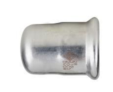 54 mm TURBO Inox press slutmuffe
