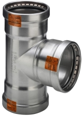 88,9 mm Sanpress Inox T-stykke