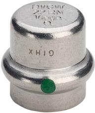 15 mm Sanpress Inox slutmuffe