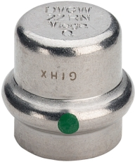 22 mm Sanpress Inox slutmuffe