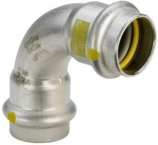 15 mm Sanpress Inox G bøjning 90°