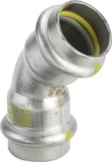 54 mm Sanpress Inox G bøjning 45°
