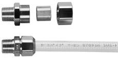 "15 mm Union-nippel rustfri gasrør 1/2"""