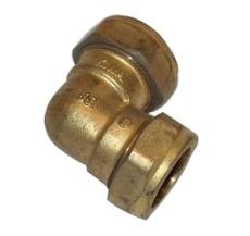 22 mm Kompressions vinkel Til kobberrør.