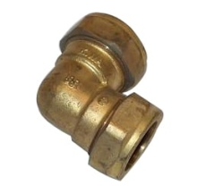 15 x 12 mm Kompressions vinkel Til kobberrør.