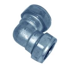 15 mm Kompressions vinkel krom Til kobberrør.
