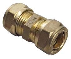 15  mm kompression, lige kobling Til kobberrør.