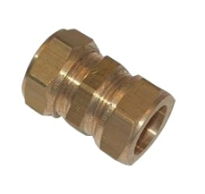 18 x 15 mm Kompression lige kobling Til kobberrør.