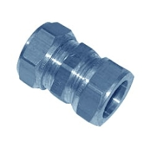 10 mm Kompression kobling krom Til kobberrør.