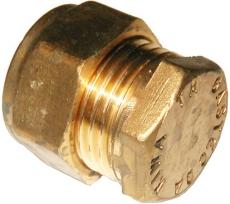 10 mm Kompression slutmuffe Til kobberrør.