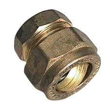 15 mm Kompression slutmuffe Til kobberrør.