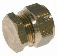 22 mm Kompression slutmuffe Til kobberrør.