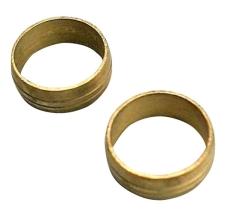 15 mm Kompressions ringe Til kobberrør.