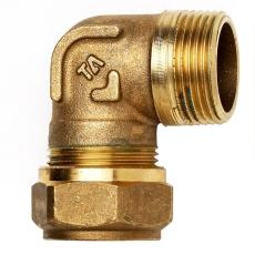 """3/4"""" x 18 mm TA FPL vinkel med nippel"""
