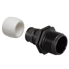 """Uponor Q&E overgangsnippel PPSU 25-G3/4""""MT"""
