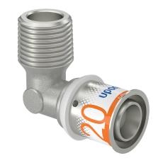 """Uponor S-Press vinkel m/nippel 20-R1/2""""MT"""