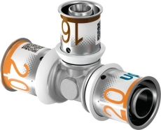 Uponor S-Press tee reduceret 20-20-16